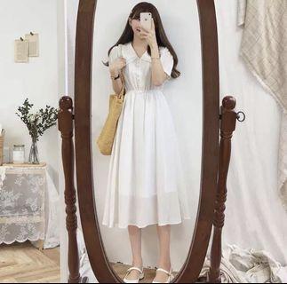 全新/法式復古桔梗裙超仙森系連衣裙