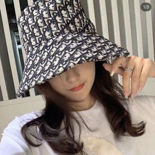 DIOR canvas bucket hat with all-over print