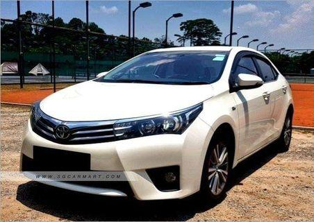Toyota Altis for rental. Weekly from $430 before Gojek $150 rebates. Contact us at 88115335/90998833