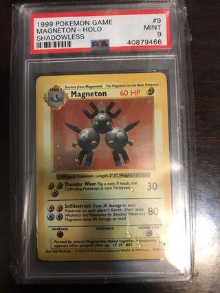 Pokemon Card Magneton (三合一磁怪) Shadowless Base Set PSA 9