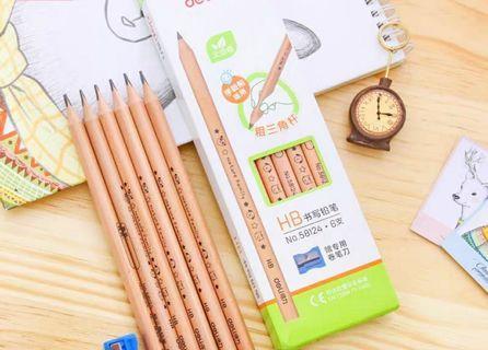 粗三角鉛筆6支連刨絲器