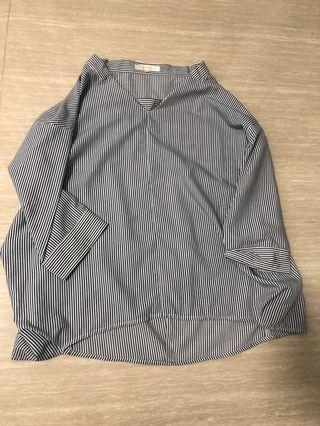Oversized Stripe Top