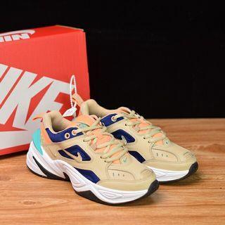 "Nike WMNS M2K Tekno""Desert Ore Beige Blue""復古潮流百搭旅遊休閑運動老爹鞋""沙漠棕看水綠""AO3108-204"