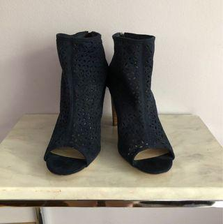 Navy Blue JustFab Peeptoe heels