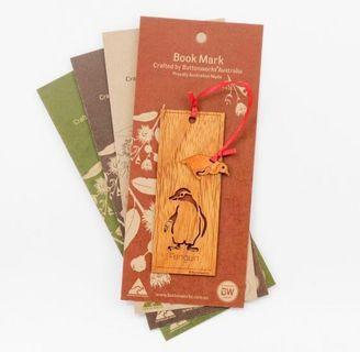 包郵!澳洲製造   木製企鵝🐧書簽