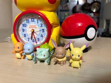 🈹再度入貨!現貨!$120@set!🈹 比卡超 排隊 系列 pokemon pikachu 小火龍 車厘龜 伊貝 奇異種子 比卡超 可愛 收藏 擺設 送禮 全新 扭蛋