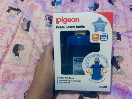 Piegon straw bottle