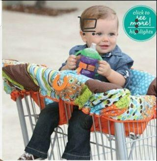 High chair/shopping cart cover