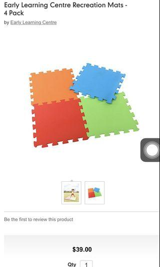 🚚 Mothercare Early Learning Recreation Mats 4 Pack