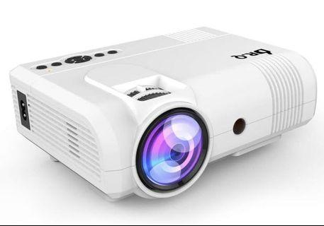 [PROJ-001] DR.Q Projector, L8 Mini Projector 3800 Lumen, Video Projector Supports 1080P HD, Increased 90% Color Light Output & Lamp Life, Supports HDMI VGA AV USB TF Devices, Home Theater Projector, White.