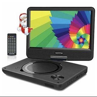 """[VP-002] WONNIE 9.5"""" Portable DVD Player with 270° Swivel Screen"""