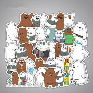 [ PO ] We Bare Bear Laptop Stickers