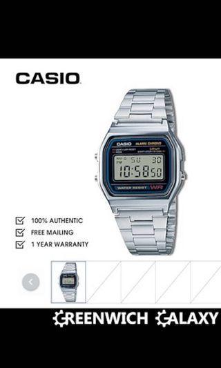 🚚 casio watch in sliver