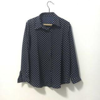 Navy Dotted (Polkadot) Shirt