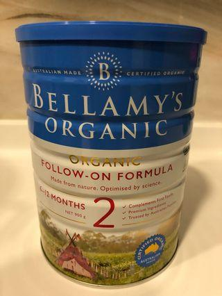 🚚 Bellamy's Organic Follow On Formula 2 900g