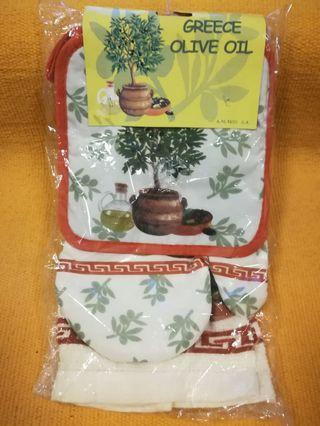 Greece Kitchen Towel Set (3 pcs)