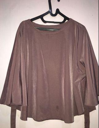 Brown Blouse / blouse kalong