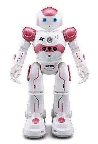 Virhuck R2 Smart Remote-Controlled Robot Toy Gift for Kids with Music Lights, Walking   Singing   Dancing   Gesture Sensor   Obstacle Avoidance   Auto Display, Pink