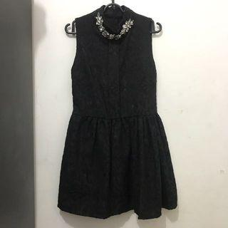 Dress Jacquard Black
