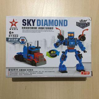 Sky Diamond Brick Building Block Transformers Optimus Prime