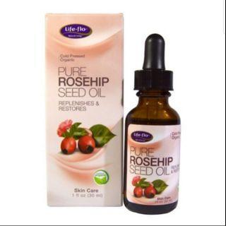 Life flo organic Pure Rosehip Seed Oil 1fl / 30ml #Style