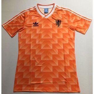 Netherlands Holland Retro Home Jersey 1988