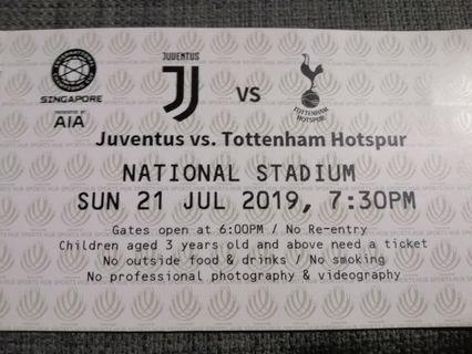 Juventus vs Tottenham Cat 5 ticket