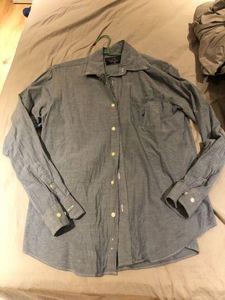 🚚 NAUTICA 男版牛仔襯衫 簡約休閒美式