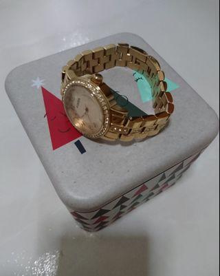🚚 Fossil Metal Strap (in Gold Color) 26mm diameter BQ1430
