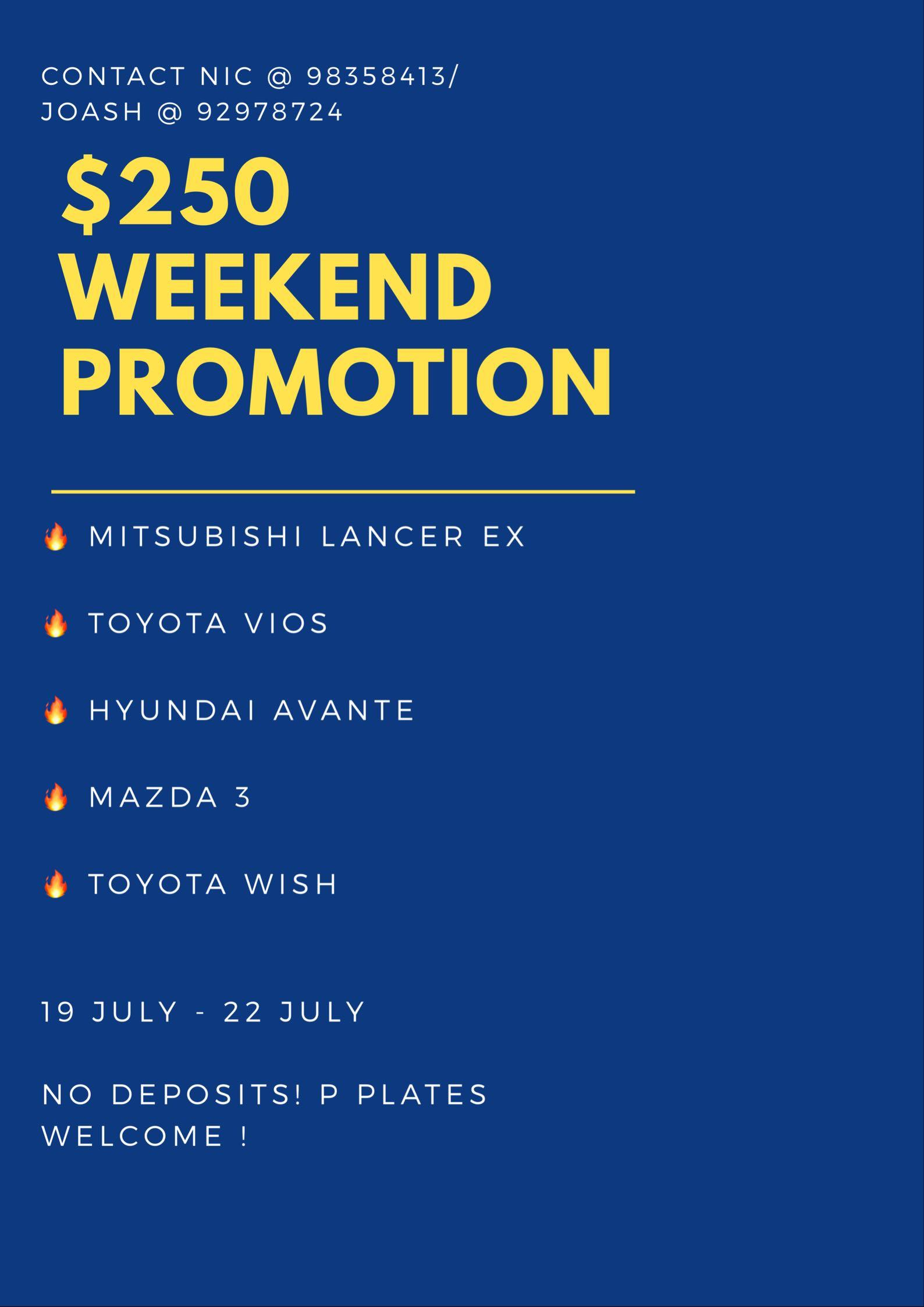 🚘$250 WEEKEND PACKAGE! FASTEST FINGERS FIRST! 🔥👀BOOK NOW! 😁