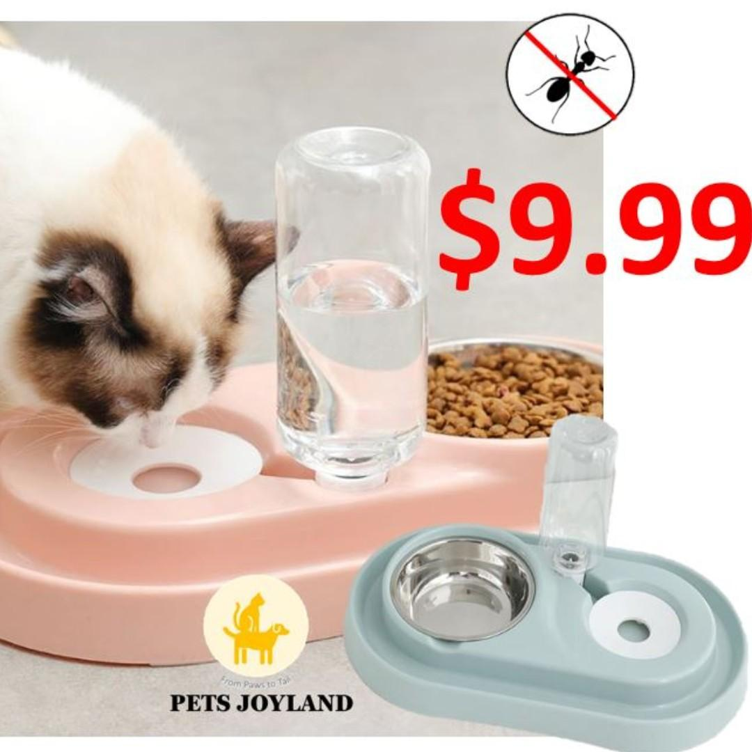 2in1 Anti-Ants Food and Bottled Water Feeder Bowl for Cats and Dogs
