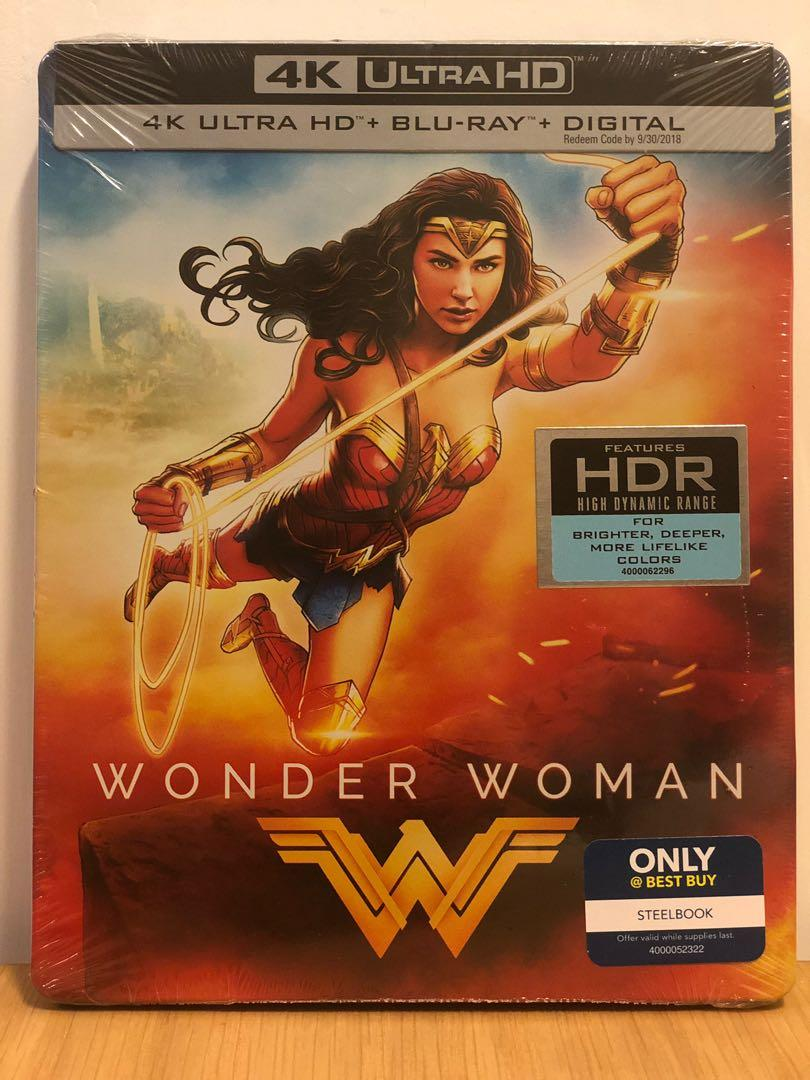 美版鐵盒神奇女俠藍光碟wonder Woman 4k Uhd Bestbuy Exclusive