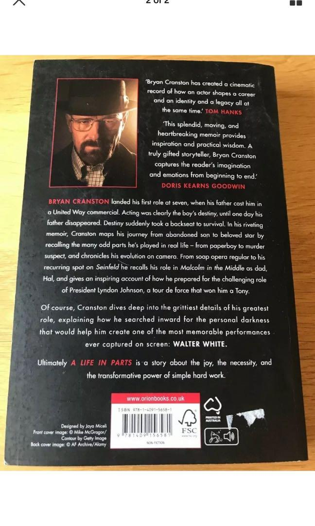 A Life in Parts by Bryan Cranston (Paperback, 2016)