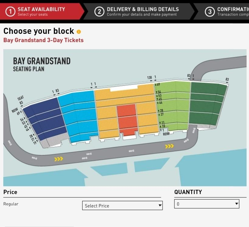 A Pair of Bay Grandstand F1 2019 - FRIDAY ONLY
