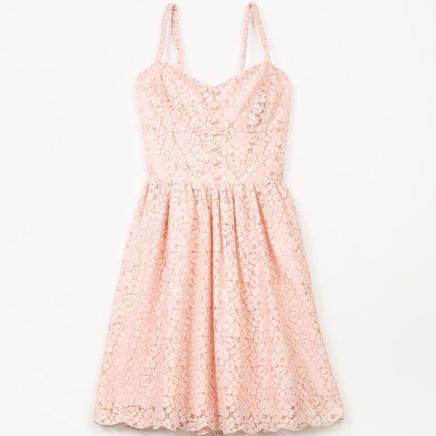 Aritzia Debutante Blush Lace dress