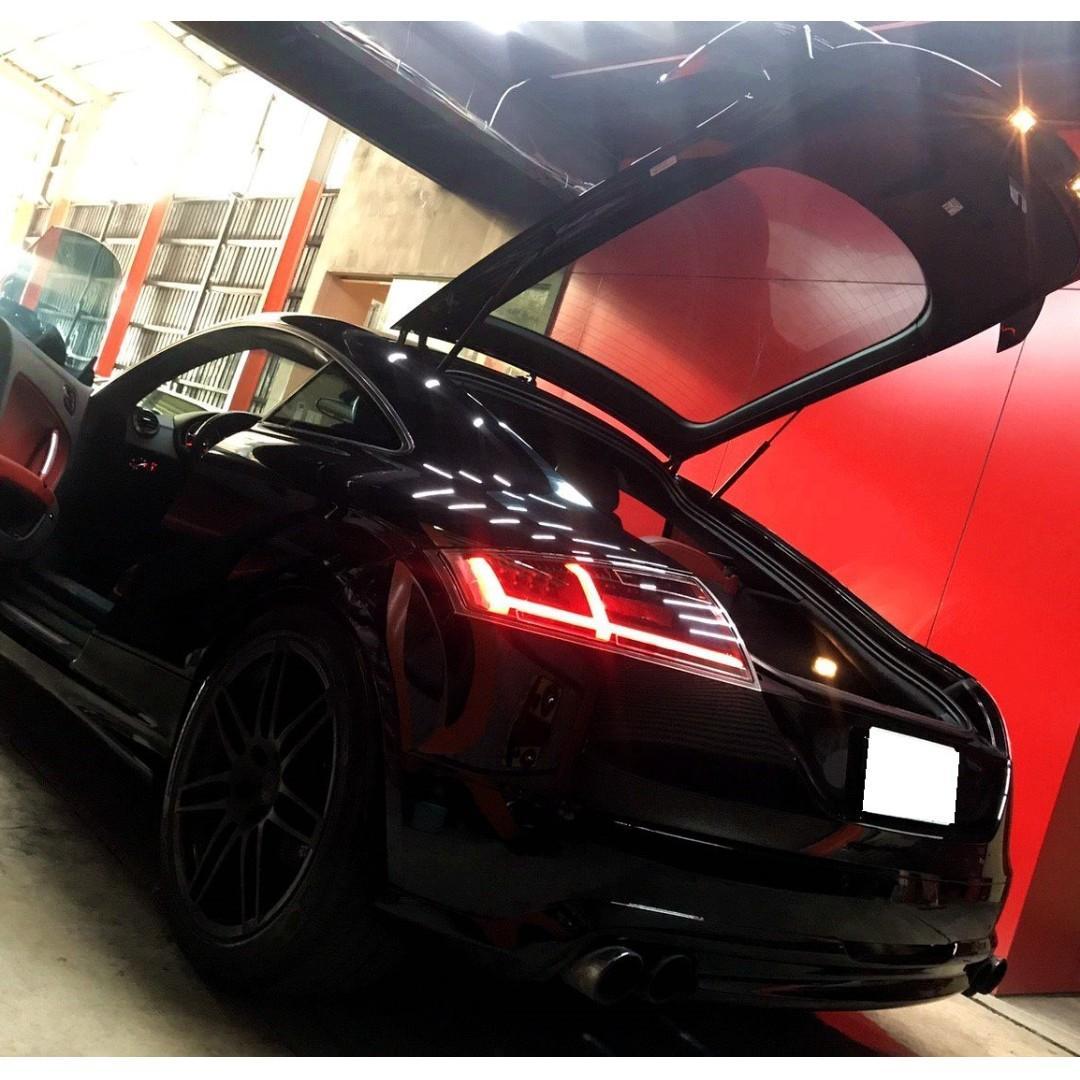 AUDI TT 全台獨家 選配真皮紅內裝(全車 含門、賽車椅) 精品改裝重金打造 觸控平板大 手機螢幕投屏