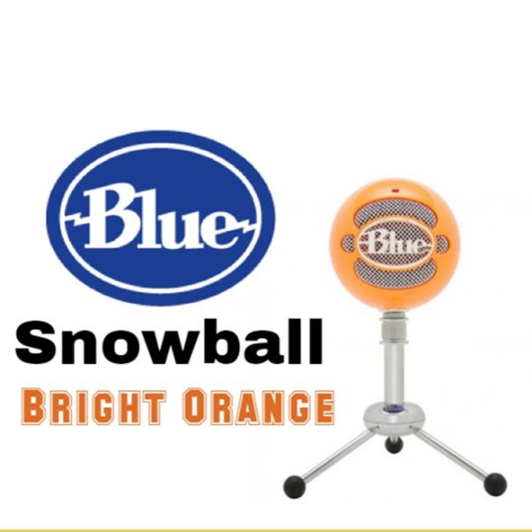 Blue Microphones Snowball Classic Studio-Quality USB Microphone, Bright  Orange