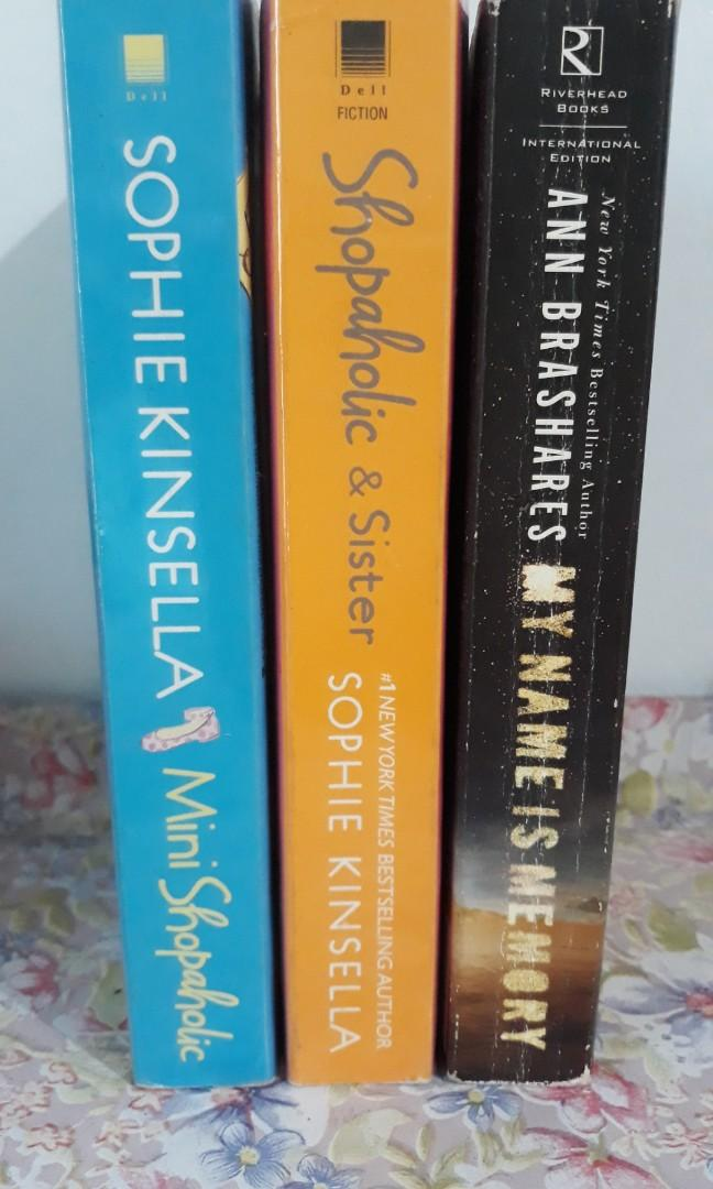 Book bundle: Shopaholic and Sister, Mini Shopaholic by Sophie Kinsella; My name is memory by anna brashers