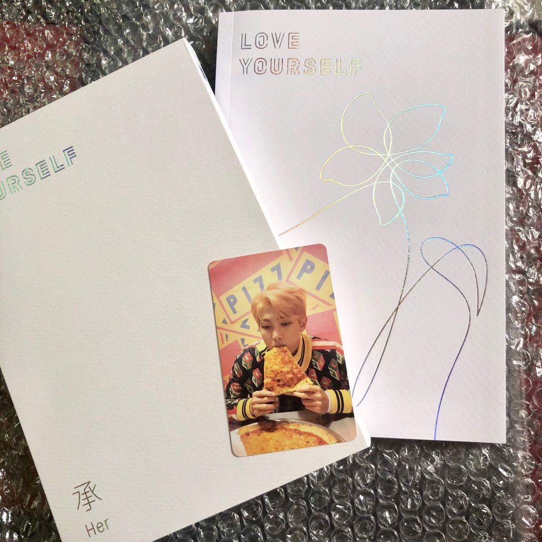 BTS LOVE YOURSELF 'HER' ALBUM VERSION E (WITH NAMJOON/RM PHOTOCARD)