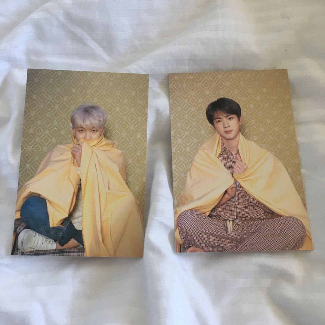 bts mots: persona postcards jin namjoon