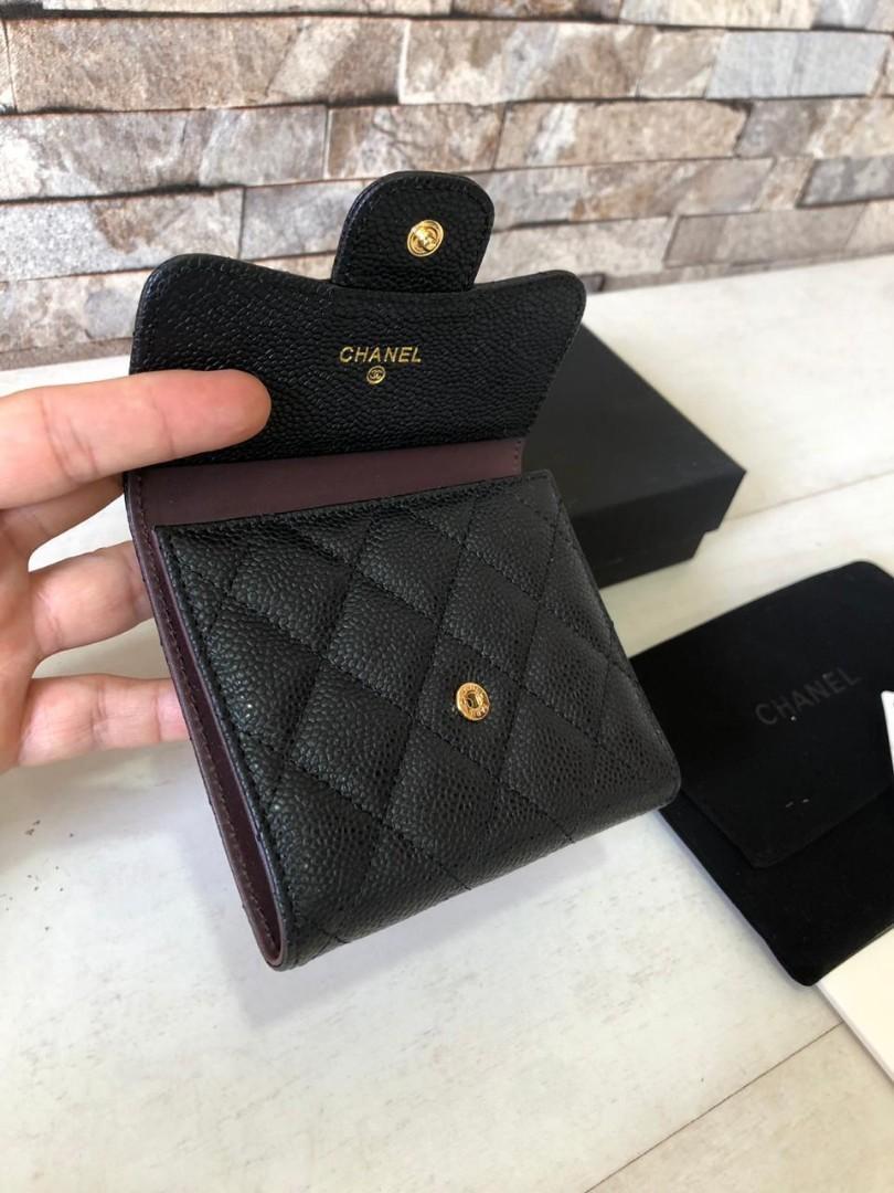 Chanel Wallet A82288, SUPERMIRROR, Caviar n Lambskin, SHW n GHW, w11.5xh10.5xd1.5cm  H  @1.4 jt (Quality dijamin Bagus n Mirip ori)