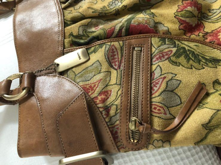 DKNY花布手提包