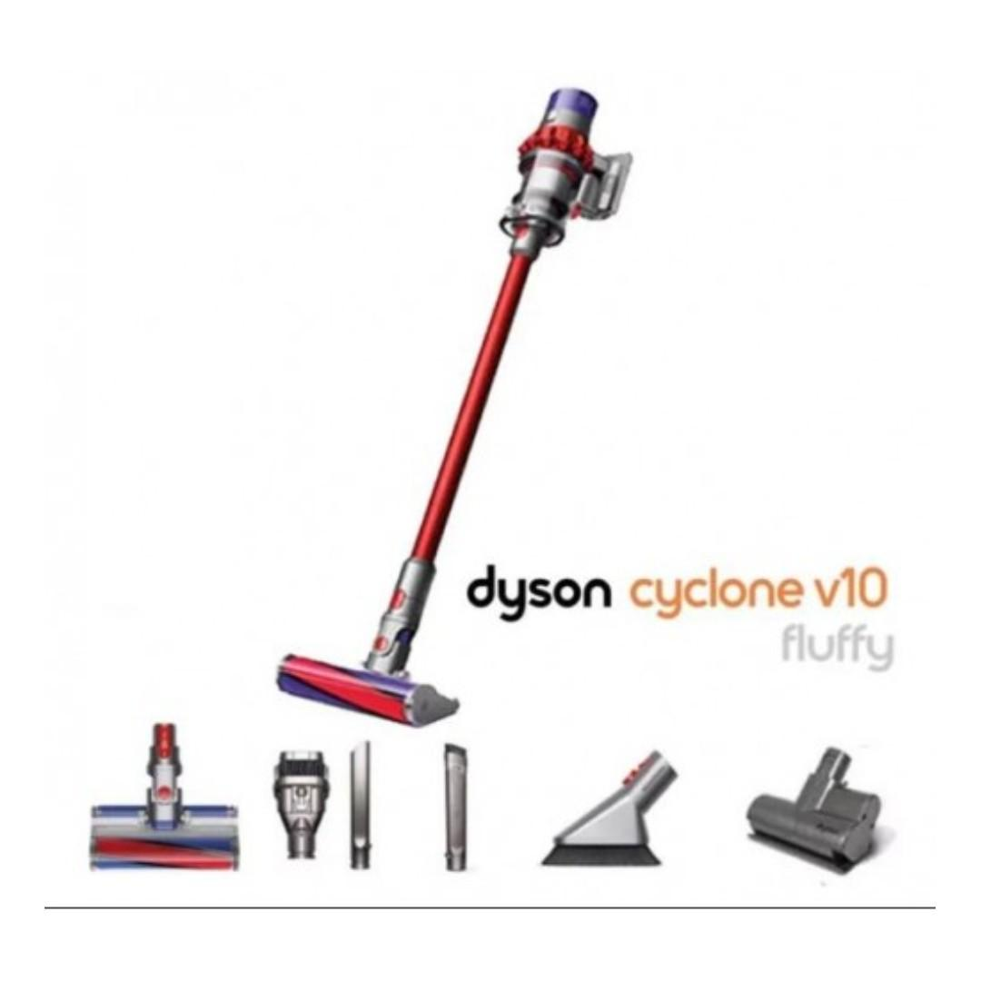 Dyson Cyclone V10 FLUFFY 直立式無線吸塵機 (香港行貨自攜保養兩年)