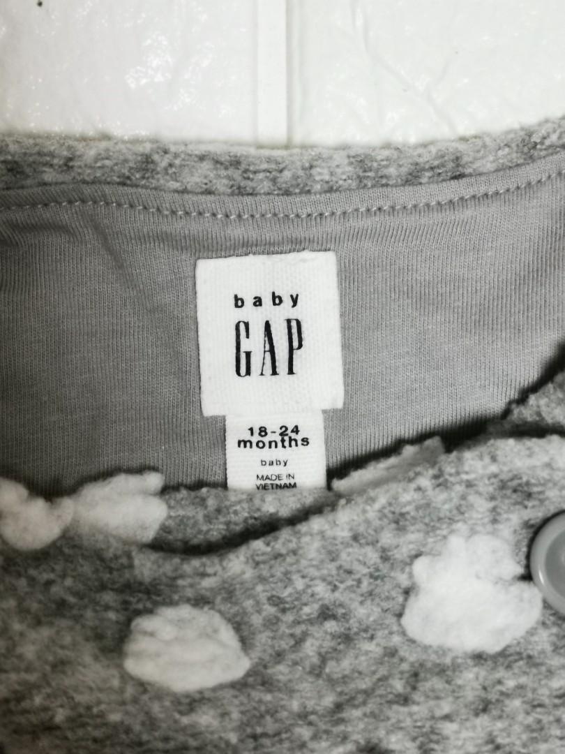 Gap 灰加白色波点外套