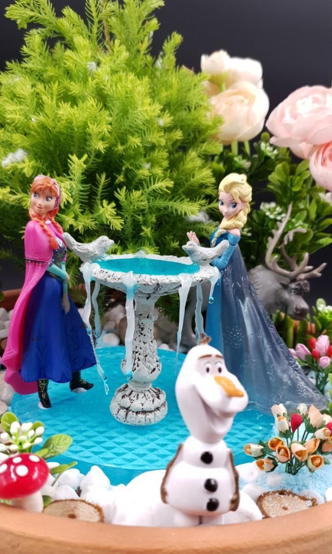 Handcrafted Frozen themed Miniature Tabletop Garden