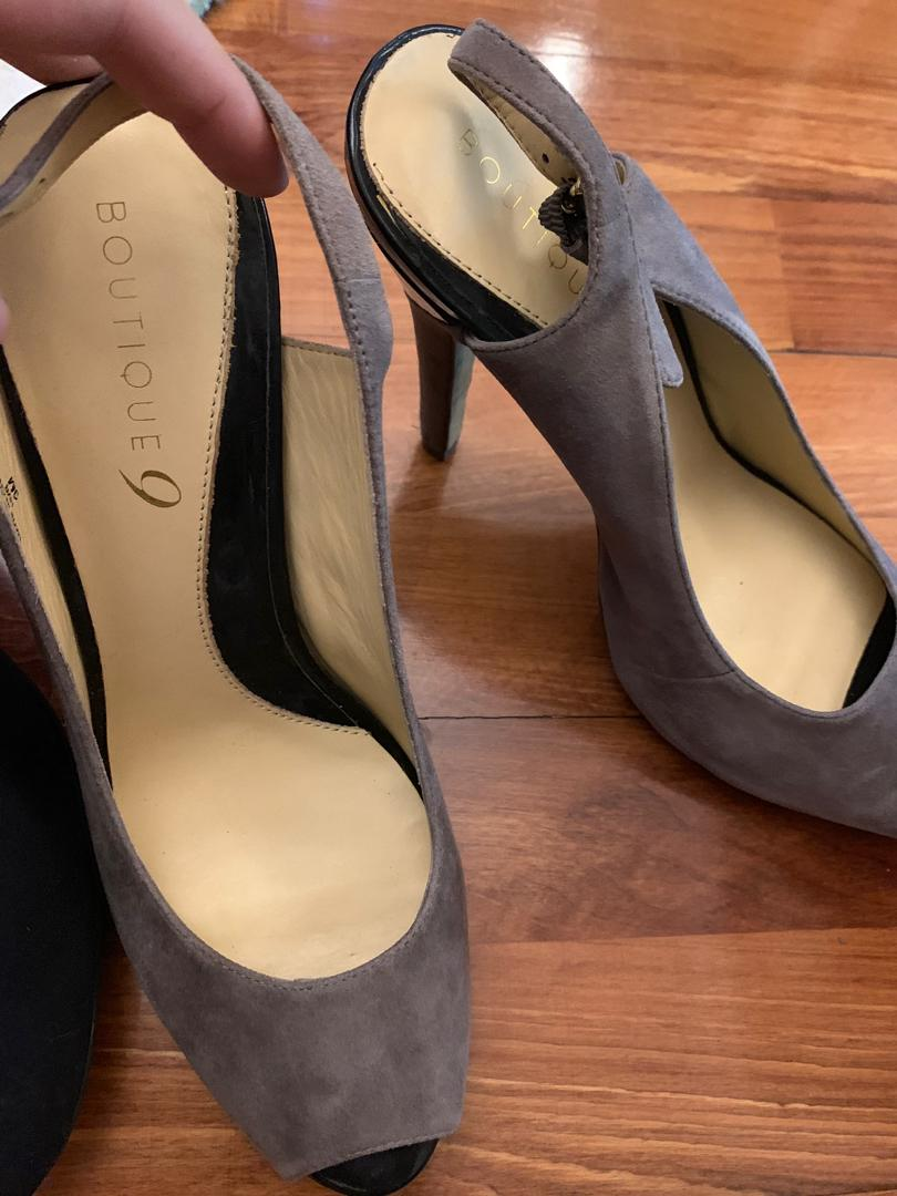 H&M topshop leather heels pre owned used