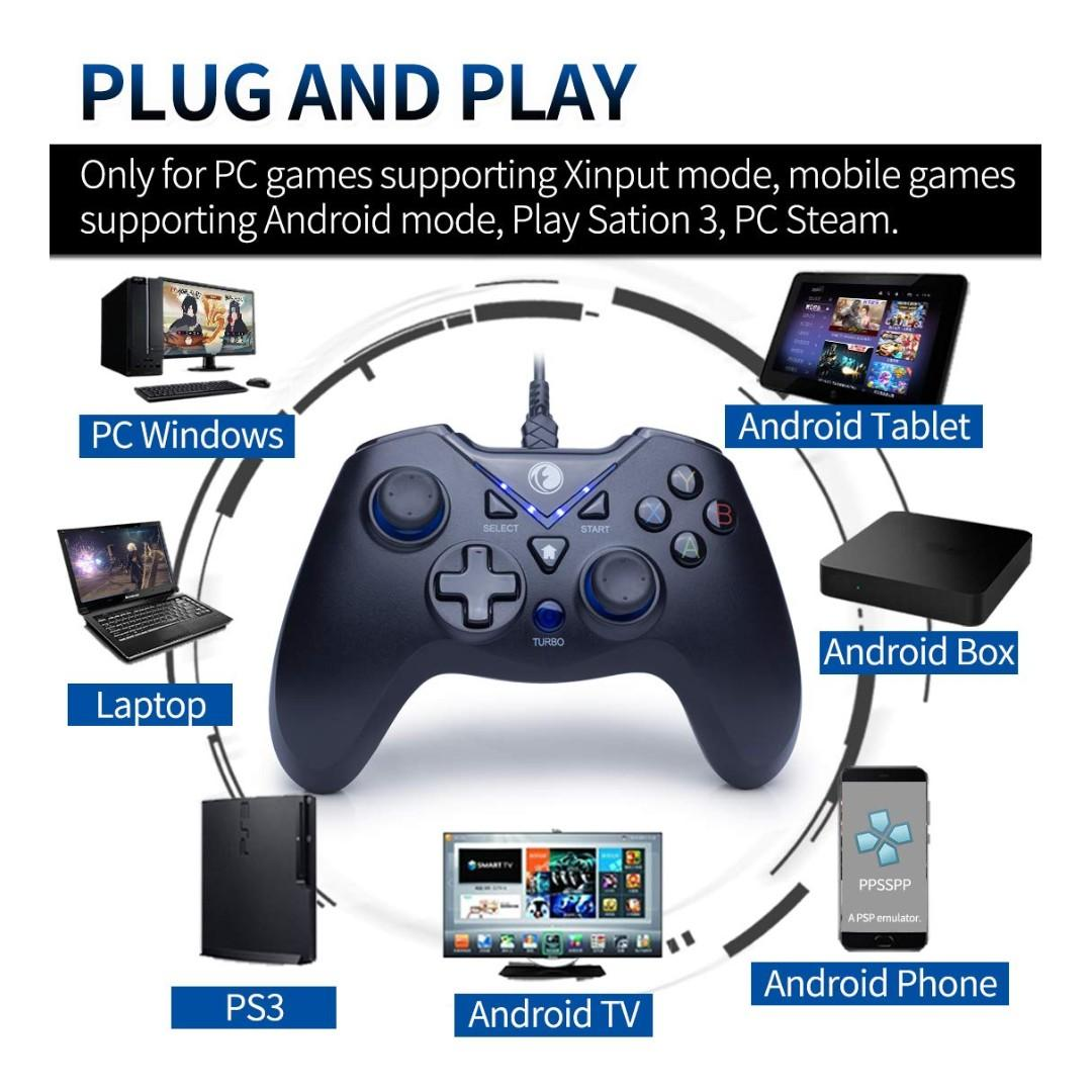 K449) IFYOO ZD V-one Wired Gaming Controller USB Gamepad