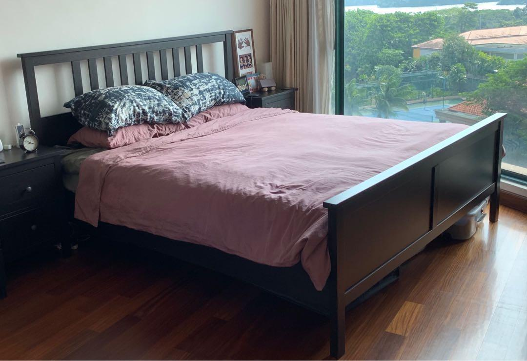 King Size Ikea Hemnes Bed Frame Reduced To Clear Furniture Beds Mattresses On Carousell