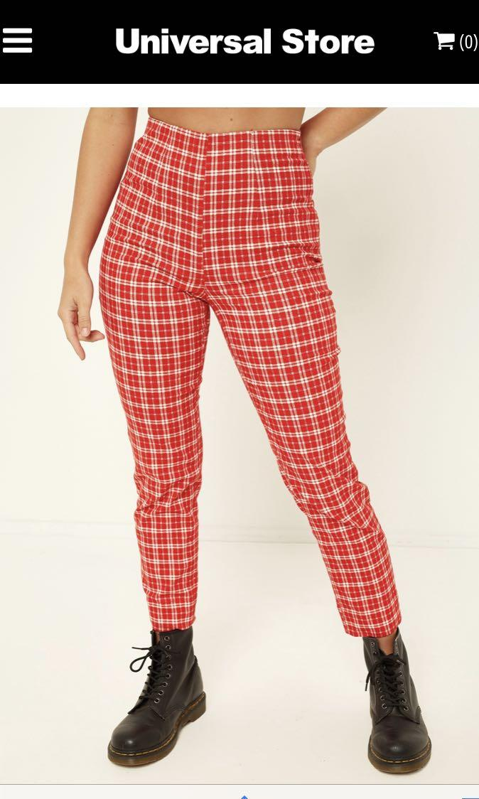 L&T PIN UP PANT RED