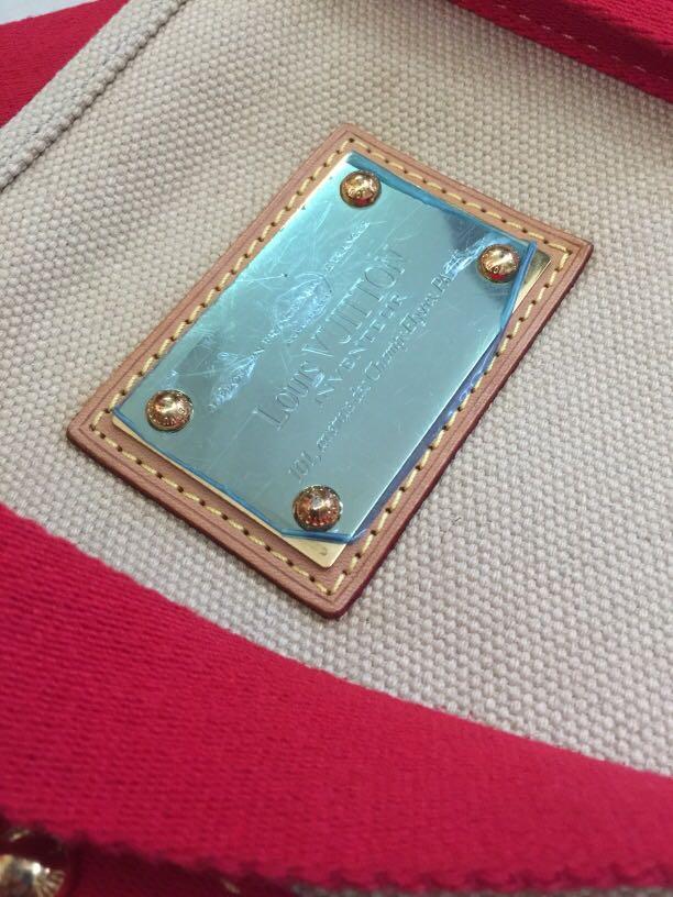 LV canvas shoulder bag